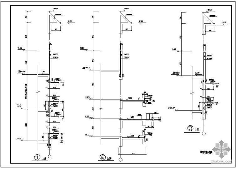 某住宅墙身大样配筋节点构造详图