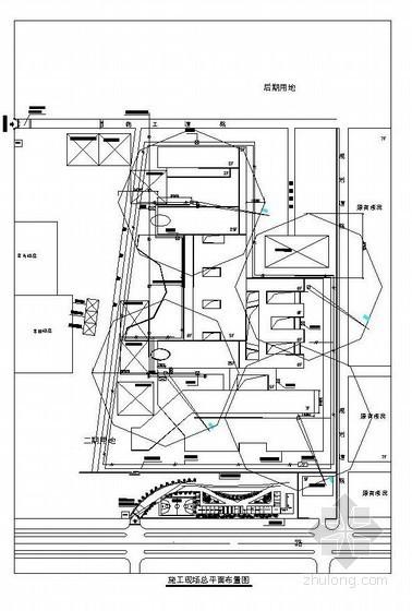 [江西]综合楼施工现场平面布置图(CAD4张)