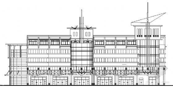 江苏省某六层底商办公楼建筑施工图