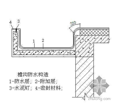 上海某住宅公寓屋面防水施工技术交底