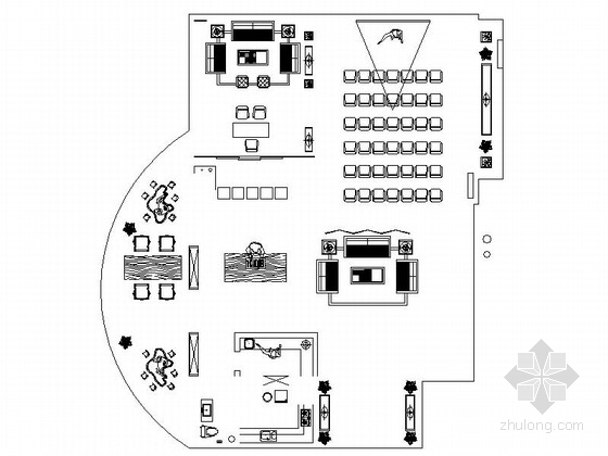 [河北]雅致现代珠宝会所室内装修施工图(含效果)