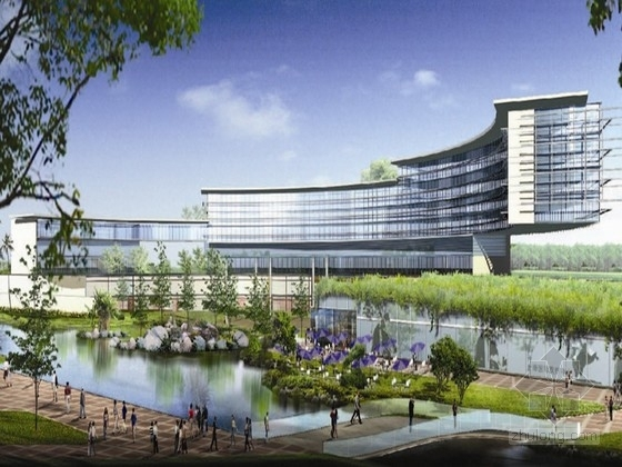 [上海]大型医学院园区规划及单体建筑设计方案文本