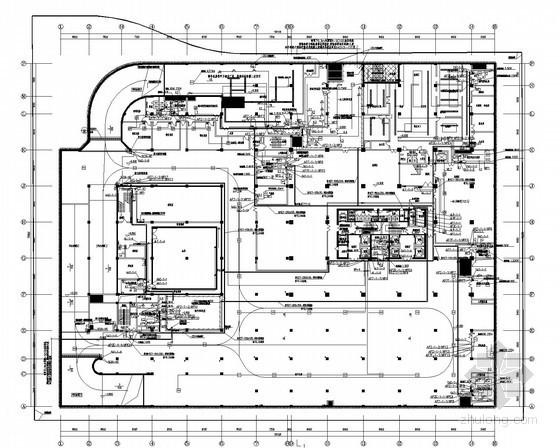 [山东]一类高层办公建筑大厦全套电气施工图纸(地下三层)