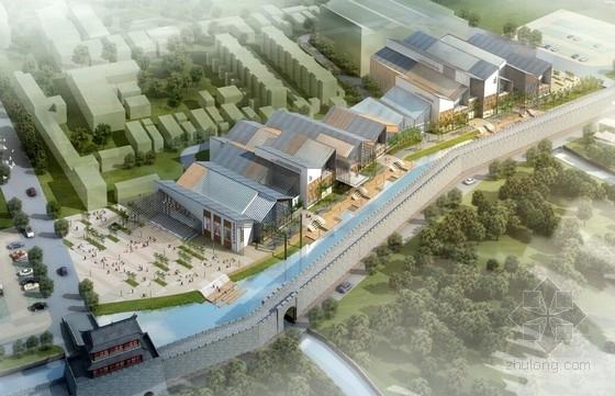 [山东]条形钢结构非物质文化遗产展览馆建筑设计方案文本