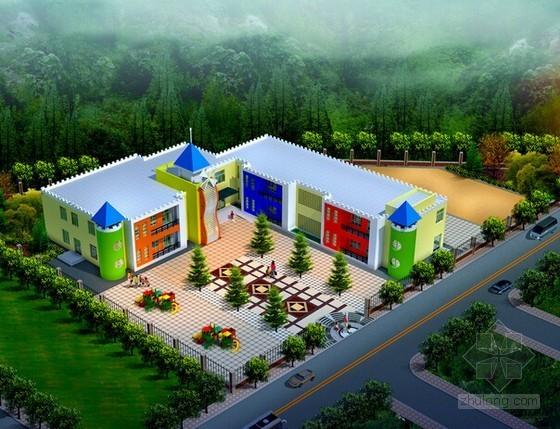 [重庆]镇中心幼儿园室内装饰及室外景观工程量清单计价实例(含施工图纸)