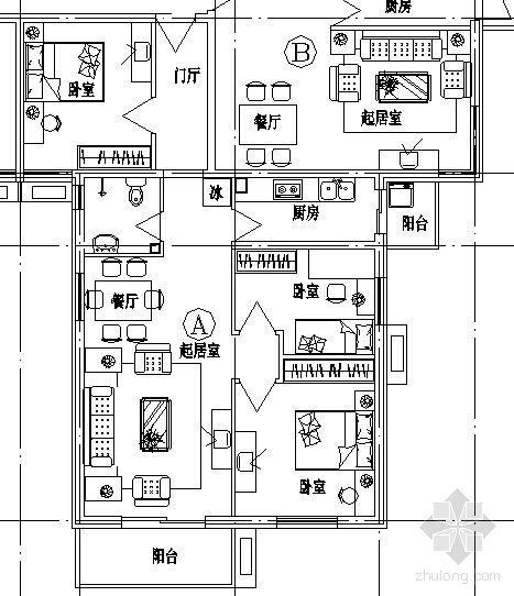 三室两厅一卫(90m2左右)