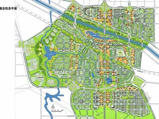 [河南]滨河新城居住区概念性总体规划及景观设计方案