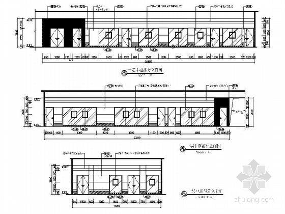 [广西]繁华中心区儿童少年活动中心教育机构设计施工图中庭立面图