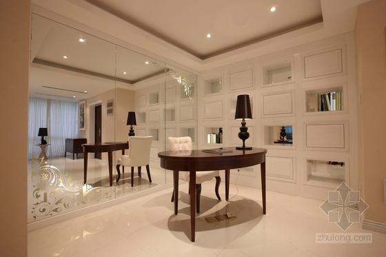[武汉]主题公园生态区时尚现代三居室装修施工图(含效果实景图及手绘图)阅读区实景图