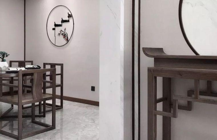 新中式徽派元素山水画为轴线的家装设计_19