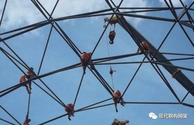 钢结构建筑球形网架搭建施工工艺