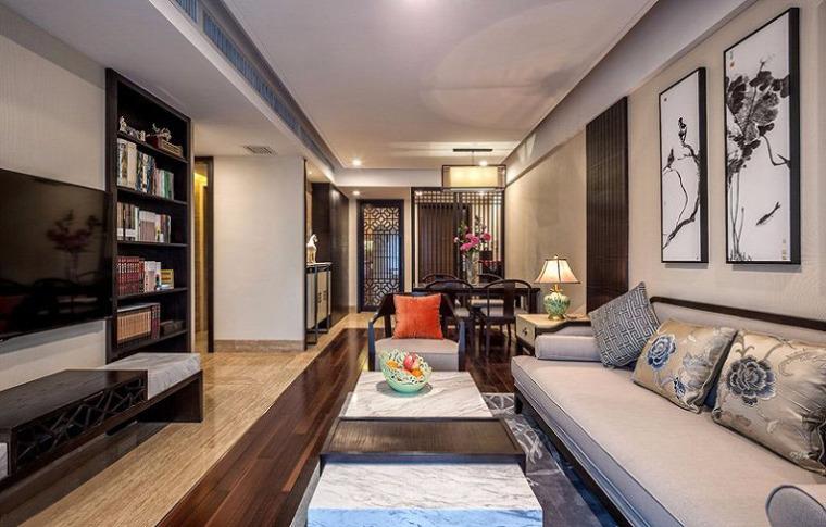 88㎡极简新中式住宅
