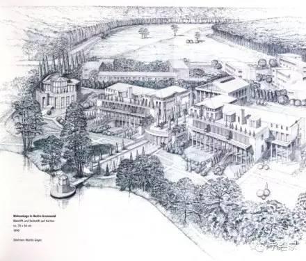 百年经典建筑设计手绘图_52