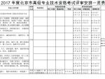 北京市人事局关于高级工程师(建筑施工)考试大纲及试题