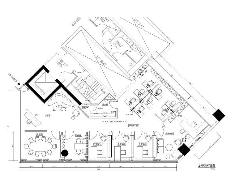 现代--新加坡办事处装修设计施工图+效果图
