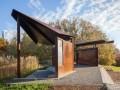 穿孔耐候钢板制造的观鸟亭