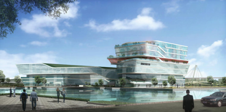 [上海]现代风格低碳城市综合体建筑设计方案文本_5