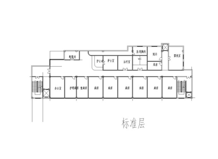 某综合性医院楼室内装修设计施工图及SU模型