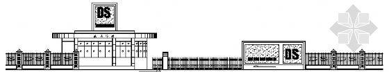 [合集]24套大门建筑施工图(学校、接待中心、公司大门、欧式)_8