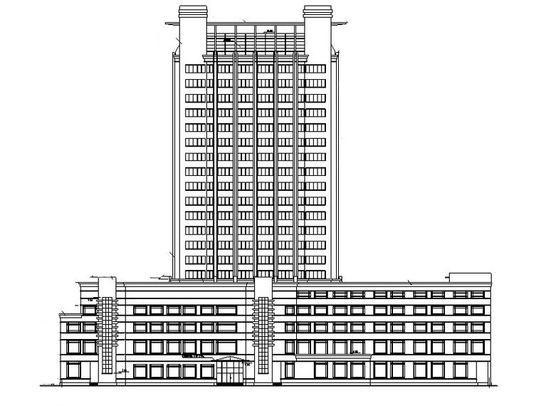 6套宾馆酒店建筑设计方案初设图CAD