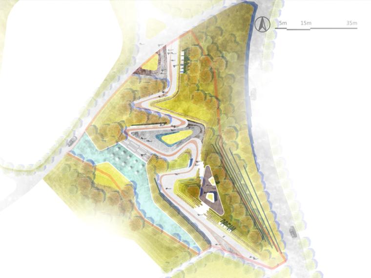 4套国际竞赛风格景观PSD彩色总平面图