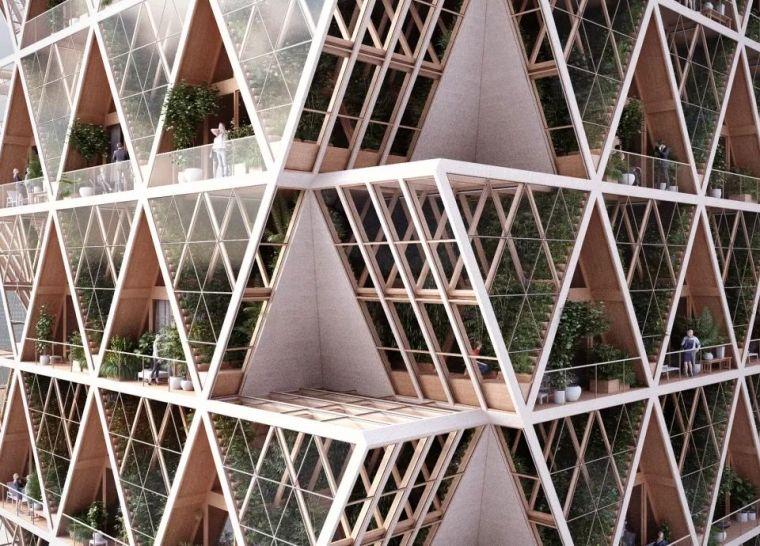 拥有独立生态系统的大楼-城市中的垂直农场_12