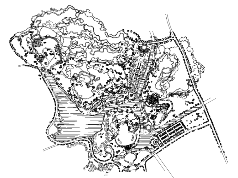 欢乐四季旅游度假小镇景观施工图纸(法国小镇,茶园风情区等分区)