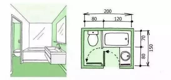 卫生间装修尺寸,精细到每一毫米的设计!_4