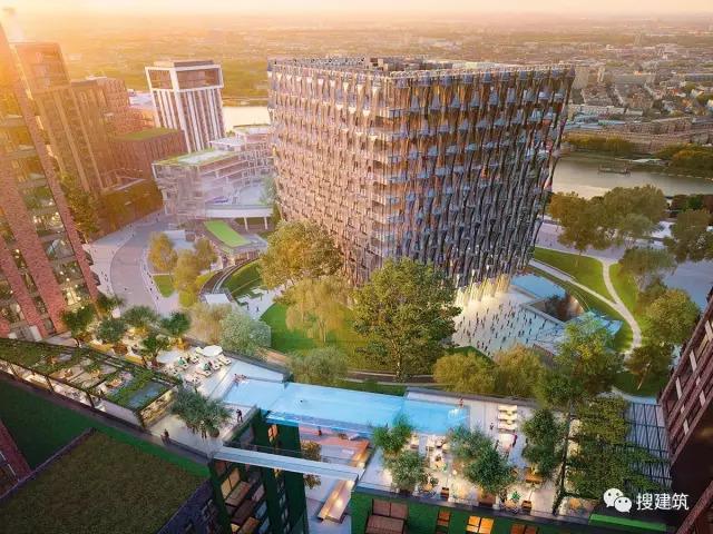 """27米长的""""空中泳池"""",在两栋大楼的第10层连接在一起,中间完全_54"""