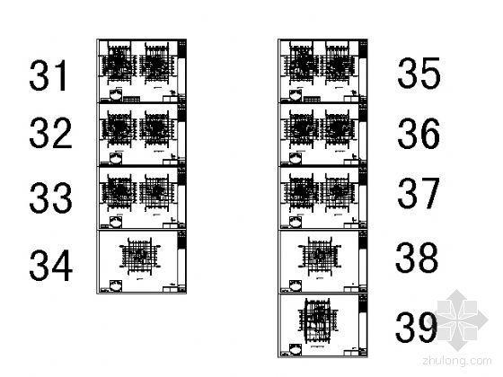 某小区住宅建筑户型图-D