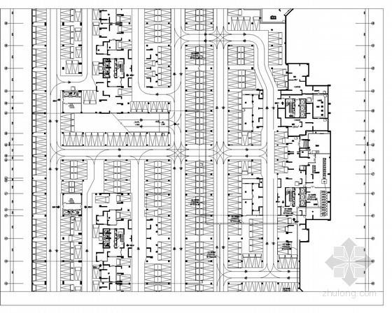 [四川]大型住宅小区地下车库全套强弱电电施图86张(甲级设计院 审图意见)