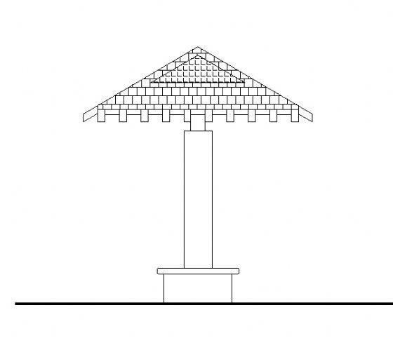木构架休闲亭详图