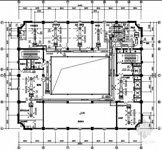 二十一层商业银行空调系统施工图