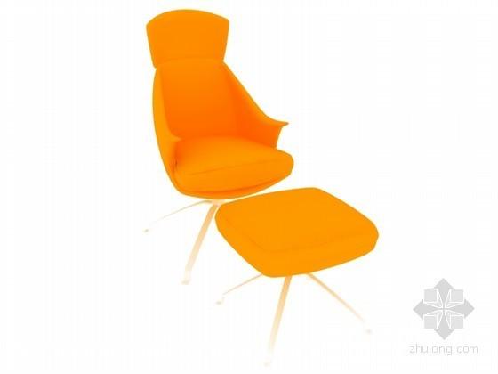 现代休闲椅子3D模型下载