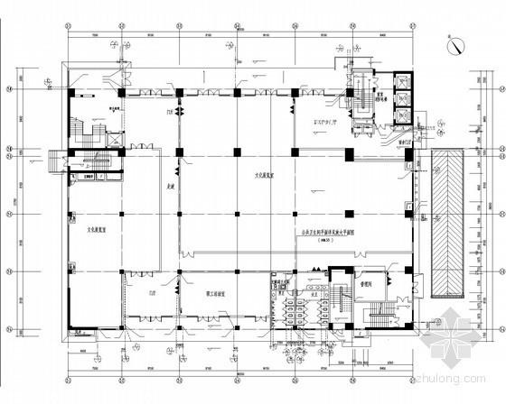 [广东]高层宿舍楼及食堂给排水消防施工图(甲级设计院 气体灭火)
