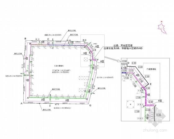 10米深基坑土钉墙加桩锚支护施工图