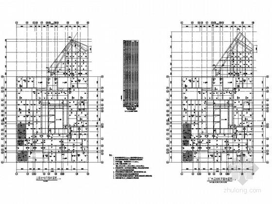 [四川]39层剪力墙结构超高层商住楼结构施工图(地下三层)