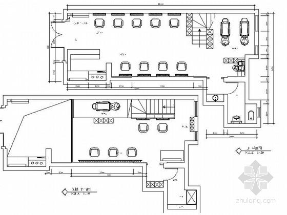 [上海]简约现代风格两层美发专业店室内装修施工图