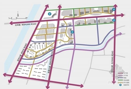 滨河现代风格城市综合体分析图