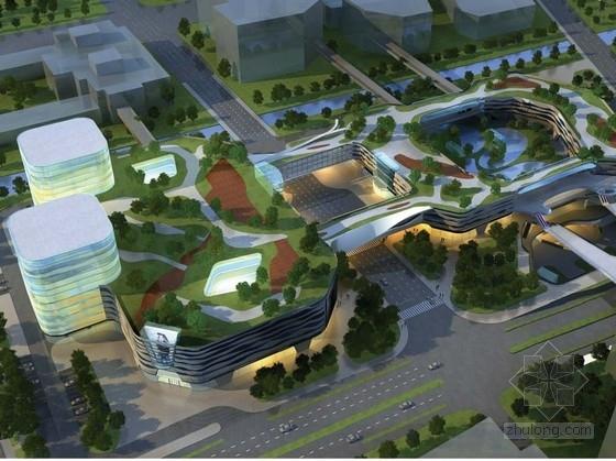 [浙江]12层现代风格曲线型商业广场建筑设计方案文本