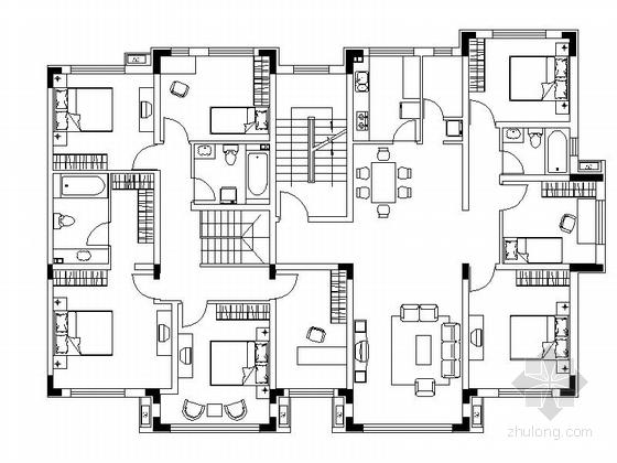 新古典住宅区规划平面图