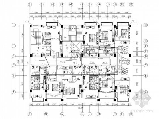 [广西]九层宾馆建筑水电施工图纸