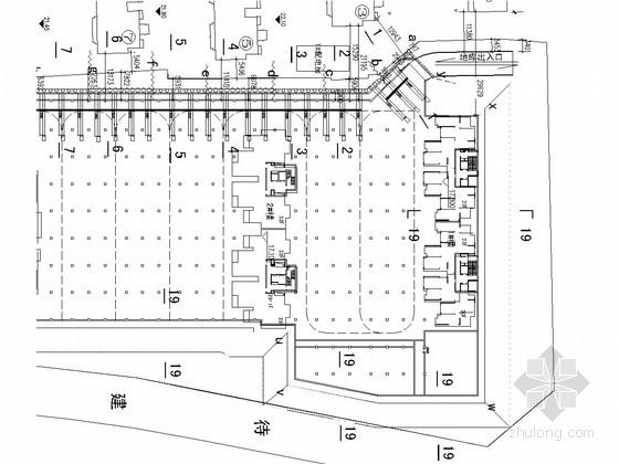 [安徽]深基坑钻孔灌注桩排桩加斜抛撑支护施工图