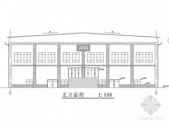 [学士]主体一层局部两层排架结构体育馆结构施工图