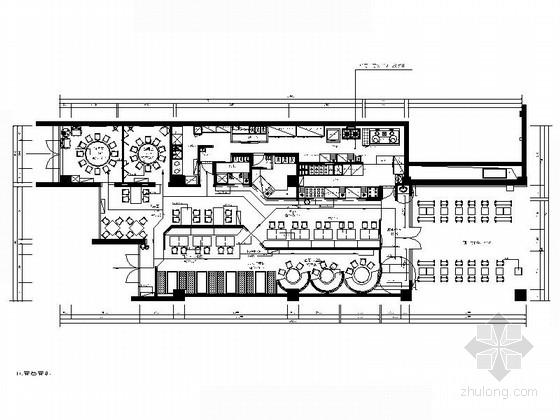 [北京]西三环广场美食城时尚现代餐厅装修施工图(含效果)