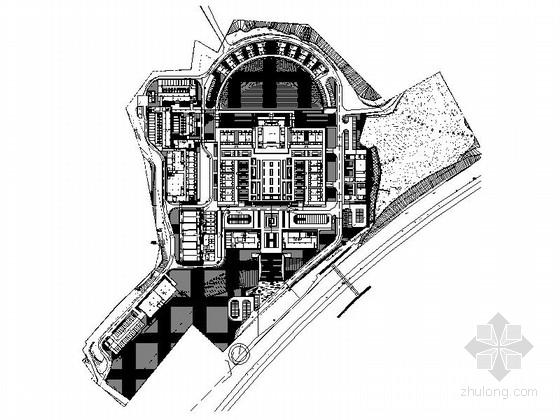 [深圳]现代简约殡仪馆景观规划改造施工图