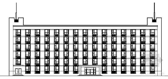 某校六层学生宿舍楼建筑方案图