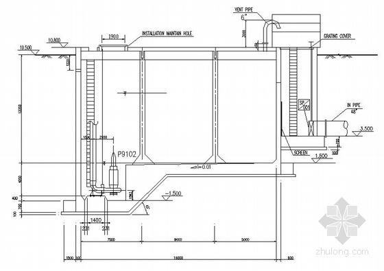 某大型化工厂污染水收集系统中提升泵站系统图