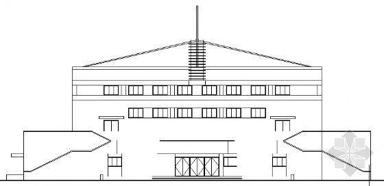 某学校三层体育馆建筑方案图