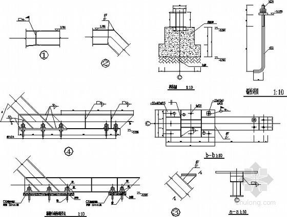钢框架楼梯梁节点构造详图